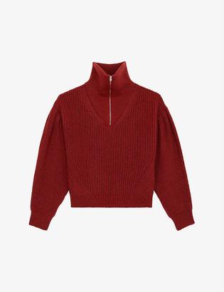The Kooples Sport Funnel neck wool-blend jumper