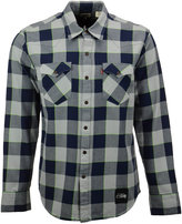 Levi's Men's Seattle Seahawks Plaid Barstow Western Long-Sleeve Shirt