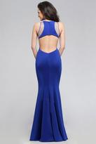 Faviana Delightful Mermaid Neoprene Dress with Illusion V Neckline and Side Cutouts 7792