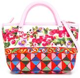 Dolce & Gabbana 'Carretto Con Rose' tote - kids - Cotton/Calf Leather - One Size