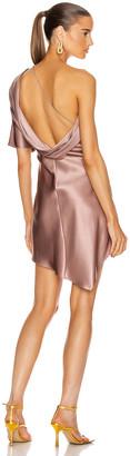 Cushnie One Shoulder Mini Dress in Dune | FWRD