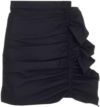 RED Valentino Ruffle Detail Mini Skirt