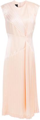 Cédric Charlier Pleated Satin Midi Dress