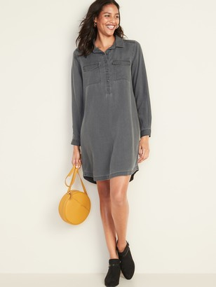 Old Navy Faded Twill Shirt Dress for Women