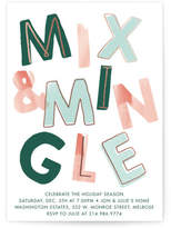 Minted Mix and Mingle Foil-pressed Party Invitation