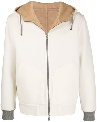 Brunello Cucinelli Reversible Knitted Hoodie