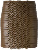 Jay Ahr lattice mini skirt