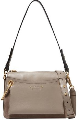Chloé Roy Leather And Suede Shoulder Bag