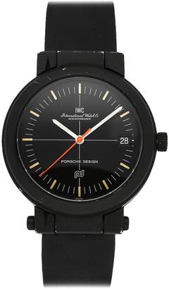 IWC Black Allunium Porsche Compass IW3510 Men's Wristwatch 39 MM