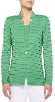 Misook Sliced One-Button Jacket, Green, Plus Size