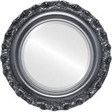 Oval And Round Mirrors Round Beveled Mirror in a Venice style frame with outside dimensions