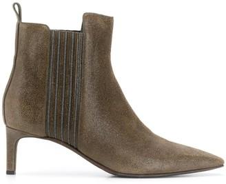 Brunello Cucinelli Kitten Heel Ankle Boots