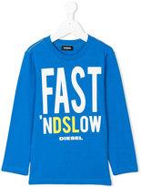 Diesel slogan print top - kids - Cotton - 2 yrs