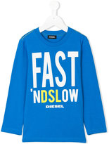 Diesel slogan print top - kids - Cotton - 3 yrs