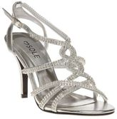 Sole New Womens Metallic Scarlet Synthetic Sandals Mid Heels Buckle