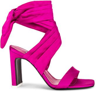 ATTICO Satin Lace Up Sandal in Fuchsia | FWRD