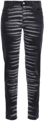 Just Cavalli Zebra-print Mid-rise Skinny Jeans