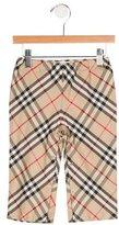 Burberry Girls' House Check Straight-Leg Pants w/ Tags