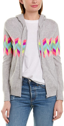 Minnie Rose Intarsia Zip Up Top