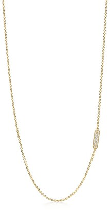 Tiffany & Co. Tag chain necklace in 18k gold with pave diamonds