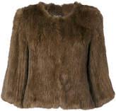 Yves Salomon cropped sleeve jacket
