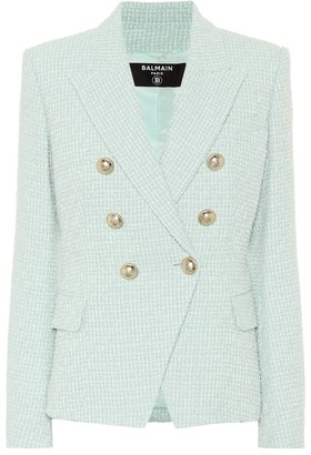 Balmain Cotton-blend tweed blazer