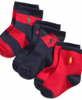 Ralph Lauren Socks, Baby Argyle Rugby Socks 3 Pack