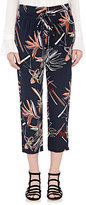Maiyet Women's Silk Drawstring Slouch Pants-NAVY