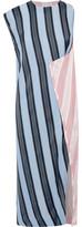 Acne Studios Catlin Wrap-Effect Striped Twill Dress