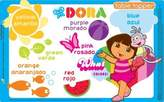 Neat Solutions 50-Ct Dora The Explorer Table Topper Disposable Stick-On Placemats With Reusable Pop-Up Travel Case by