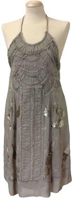 Philosophy di Alberta Ferretti Beige Silk Dress for Women