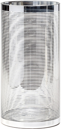 Torre & Tagus Silver Ring Glass 12In Cylinder Vase