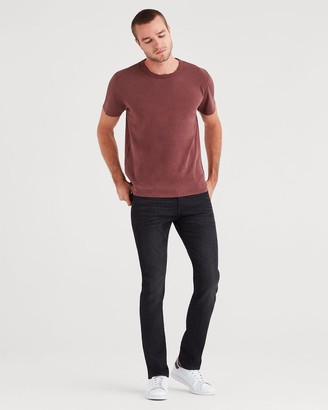 7 For All Mankind Airweft Denim Paxtyn Skinny with Clean Pocket in Black Tide