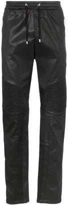 Balmain Ribbed Knee Drawstring Biker Track Pants