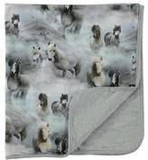 Molo Neala Horse-Print Jersey Blanket