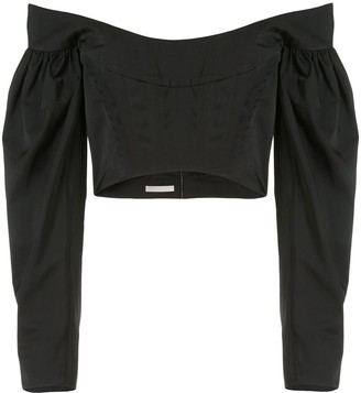 Dion Lee Taffeta Convex bustier top