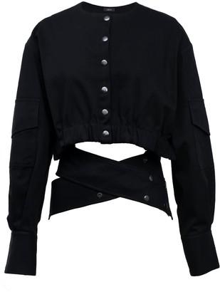 Z.G.Est Short Cotton Jacket In Black Embrace