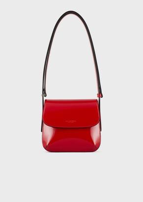 Giorgio Armani Small La Prima Bag In Patent Leather