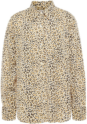 Current/Elliott The Derby Leopard-print Twill Shirt