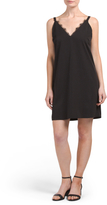 Juniors Lace Inset Slip Dress