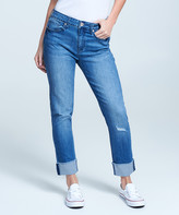 Seven7 Women's Denim Pants and Jeans Reeves - Distressed Medium Wash Reeves Cuffed Straight-Leg Jeans - Women
