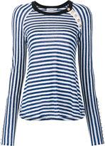 Derek Lam 10 Crosby striped longsleeved T-shirt - women - Linen/Flax - XS