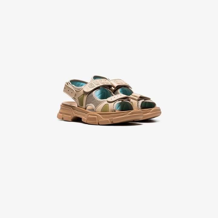 fd4091b1220b7 brown aguru leather and mesh hiking sandals