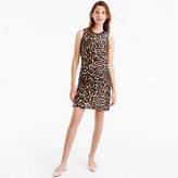 J.Crew A-line shift dress in leopard print