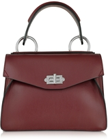 Proenza Schouler Small Hava Midnight Plum Smooth Leather Top Handle Bag