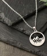 Kurt Geiger Silver Silver Women's Necklaces silver - Sterling Silver Mountain Scene Pendant Necklace