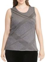 Lauren Ralph Lauren Plus Metallic Plaid Sweater Tank
