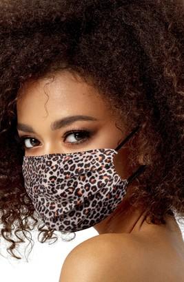 LOVE CHANGES Leopard Print Satin Adult Face Mask