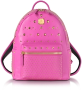 MCM Electric Pink Leather Stark Special Small Backpack