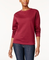 Karen Scott Petite Fleece Sweatshirt, Created for Macy's